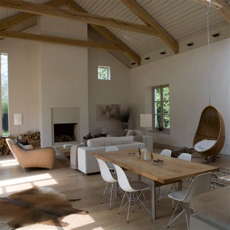 Decorating Ideas For Open Plan Living Room by Barn Style Living Room Open Plan Living Room Decorating