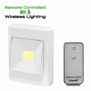 Litezall Remote Controlled Cob Led Wireless Pivot Light Switch