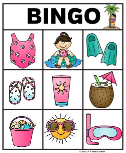 Free Summer Bingo Sample  Preschool Printables  Kids Crafts & Activities Pinterest