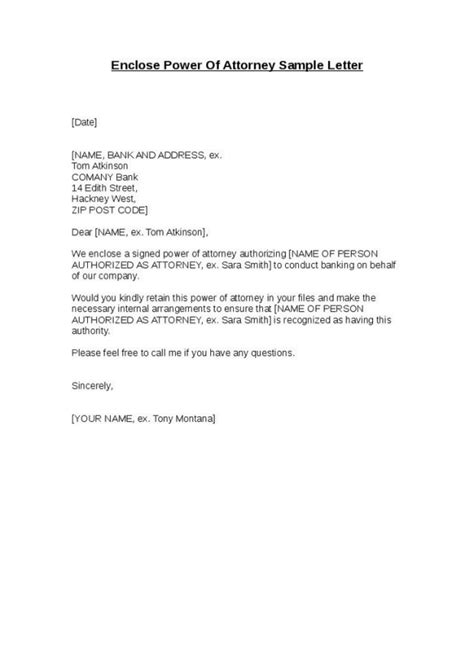 power of attorney letter sle letters archives page 7 of 12 sle letter 9187