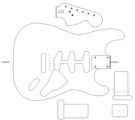 Stratocaster Routing Template by Fender Stratocaster 1960 Template Vinyl Guitar