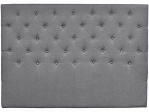 Tete De Lit Tissu Gris : tete de lit capitonnee 180 cm deco en tissu gris vente de habitat et jardin conforama ~ Teatrodelosmanantiales.com Idées de Décoration