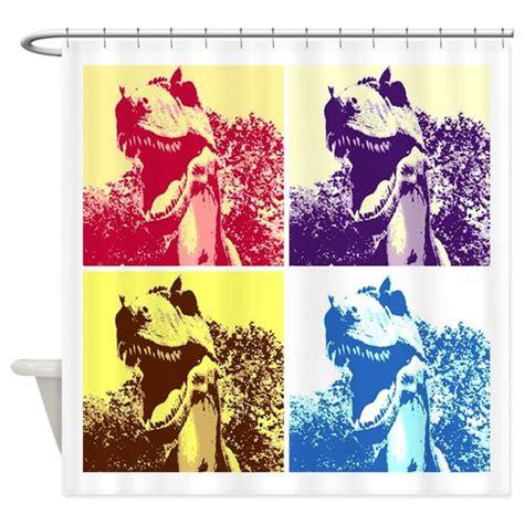 pop shower curtain dinosaur t rex pop shower curtain by animaltease