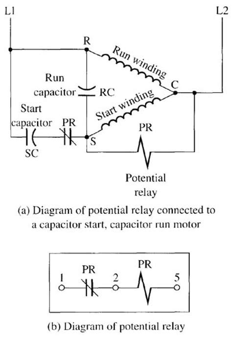Start Capacitor Wiring by Using A Potential Relay To Start A Cscr Motor