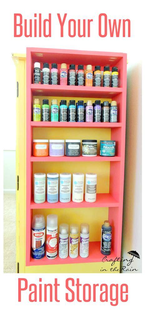 build craft room shelves crafting   rain