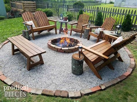 Fire Ring Pit Kit Lit Up From Easy Pits Added The
