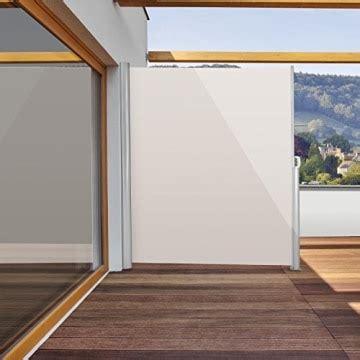Sicht Und Windschutz Für Balkon by Blumfeldt Bari 320 Seitenmarkise 300 X 200cm Creme Sand