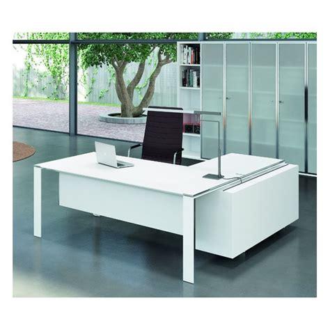 bureau en verre blanc bureau x7 avec plateaux en verre blanc officity bureaux