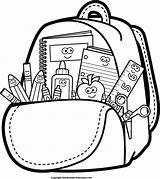 Bookbag Drawing Getdrawings Backpack Clipart sketch template