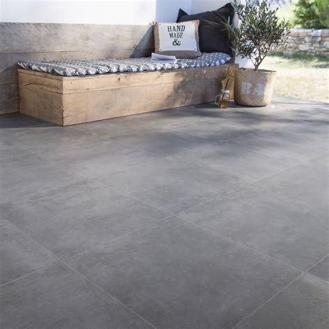 cuisine effet beton carrelage sol anthracite effet béton bristol l 45 x l 45