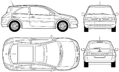 car blueprints renault megane ii 3 door blueprints