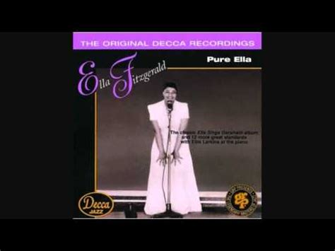 Ella Fitzgerald  Someone To Watch Over Me 1950 Youtube