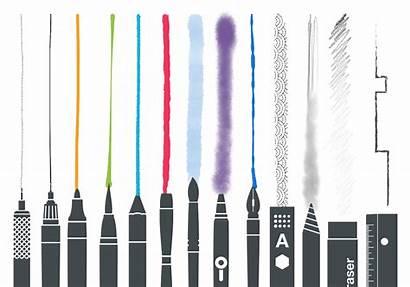 Sketches Apps Tayasui Ipad Tools Drawing Drawings