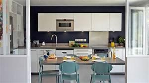 amenagement salon cuisine cuisine en image With petite cuisine ouverte sur sejour