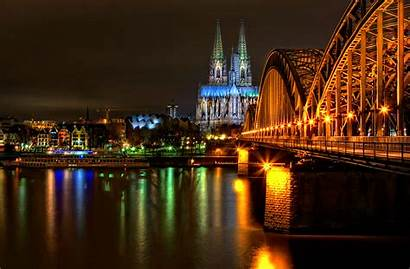 Cologne Germany Night Wallpapers Cities Desktop Cathedral