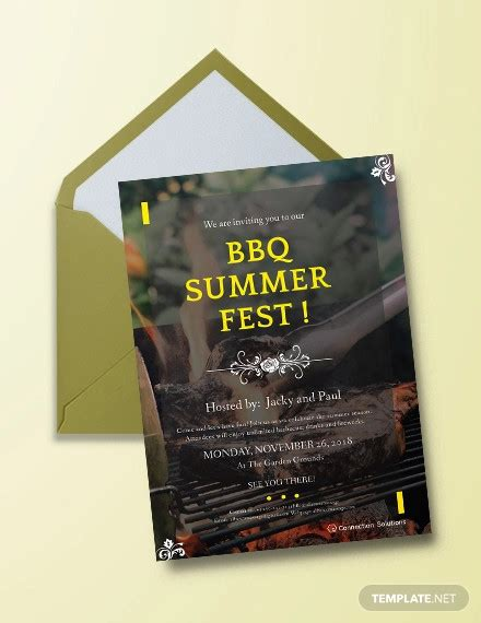 14+ BBQ Party Invitation Designs PSD AI Word Pages