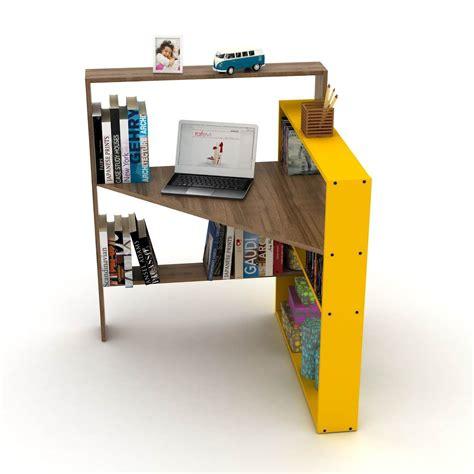 Libreria Con Mensole Scrivania Angolare Con Mensole Libreria Salvaspazio Geometry