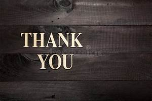 thank you stock photo image of write aged design With thank you wooden letters