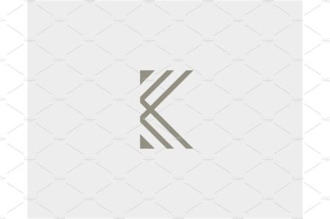 abstract letter  logo design linear elegant vector icon