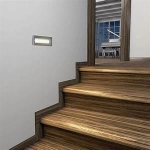 Treppenbeleuchtung Led Außen : led treppen licht treppenbeleuchtung f r au en eckig 20x7cm 230v warm wei 5 stk von parlat ~ Markanthonyermac.com Haus und Dekorationen