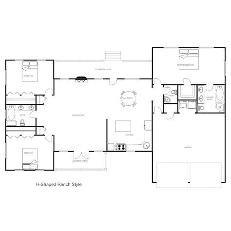 house floor plans house plan h ranch