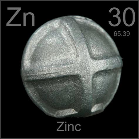 zinc oil element sacrificial anodes tank sample periodic table