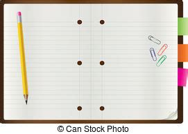 notepad blank page and stationery 1 vector illustration eps vector search clip