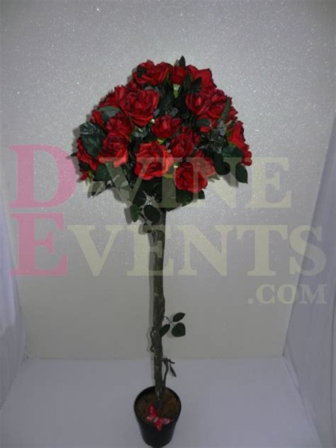 Red Rose Topiary Tree