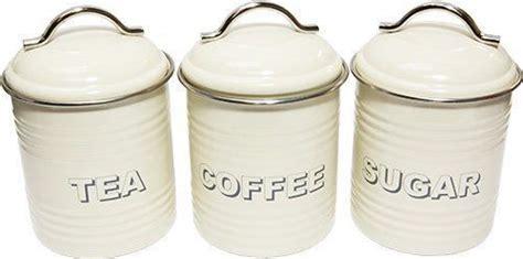 Vintage Style Cream Tea Coffee Sugar Kitchen Storage