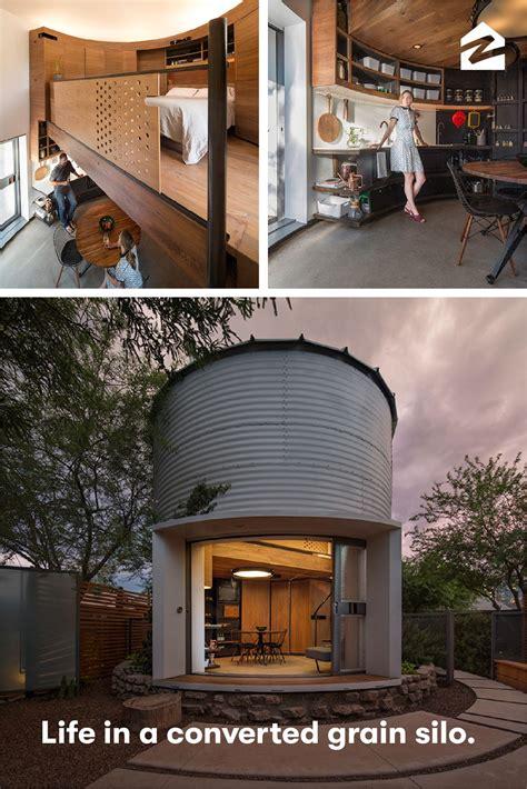 tiny grain silo home silo house