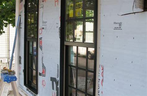 marvin ultimate double hung windows   wood  aluminum clad  black