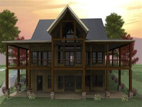 lakefront house plans with walkout basement lakefront