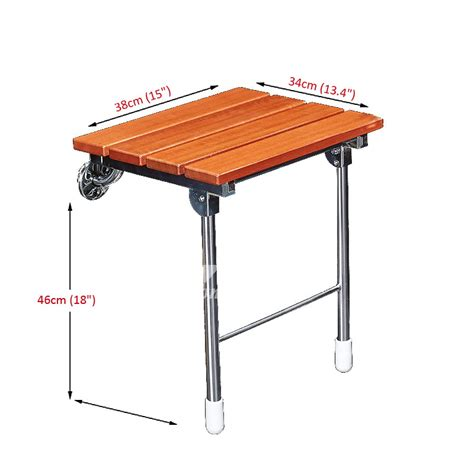Wall Mounted Folding Shower Seat With Legs - bathroom wall mounted wooden folding shower seat with legs