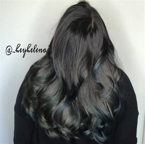 Hair Color Descriptions by 1000 Ideas About Teal Highlights On