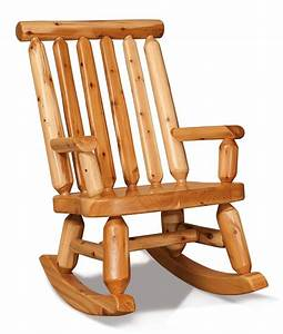 amish white cedar log papa bear rocker With amish rocking chair for sale