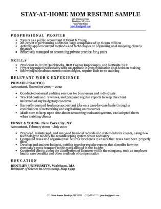 Gap In Career Resume by Stay At Home Resume Sle With Work Gaps Great