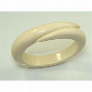 Ivory Tusk Bangle Bracelet - Jewelry Kingdom