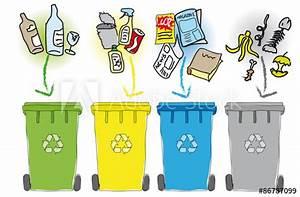 Poubelle De Tri Selectif : poubelles tri s lectif acheter ce vecteur libre de droit ~ Farleysfitness.com Idées de Décoration