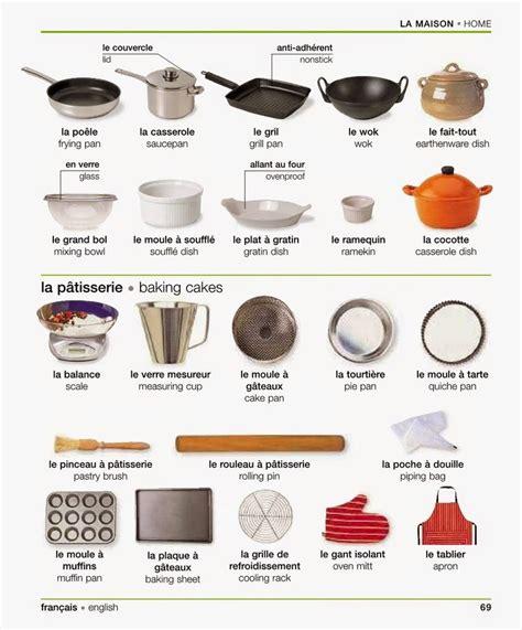 ustensile de cuisine en l vocabulaire quot la maison les ustensiles de cuisine de