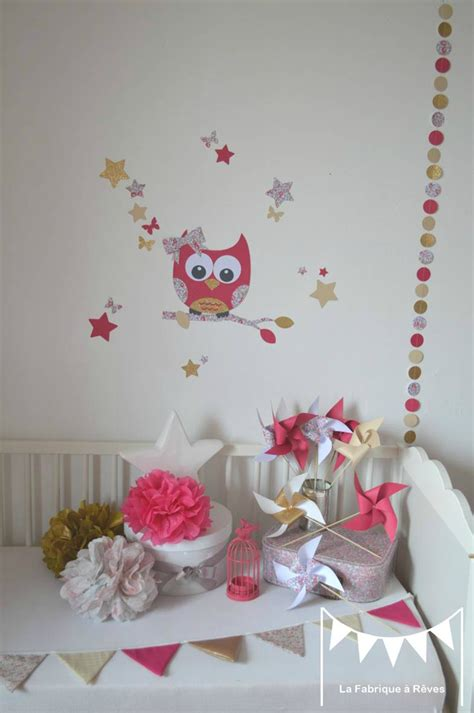 theme chambre bebe fille decoration chambre bebe theme hibou