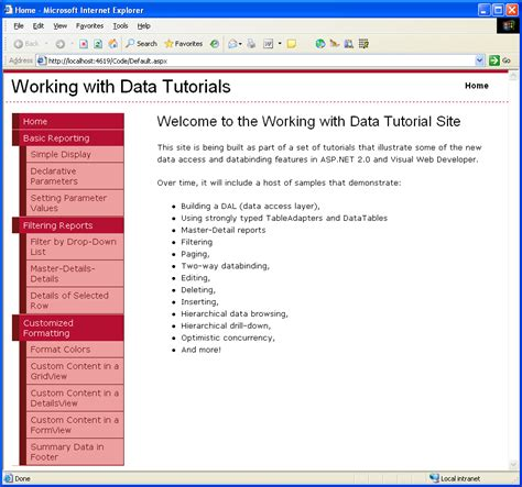 Master Pages And Site Navigation (c#)  Microsoft Docs