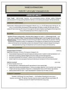 photo lab manager resume laboratory analyst resume sle resume writing service