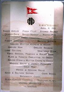 Menus From the RMS Titanic's Fateful Voyage