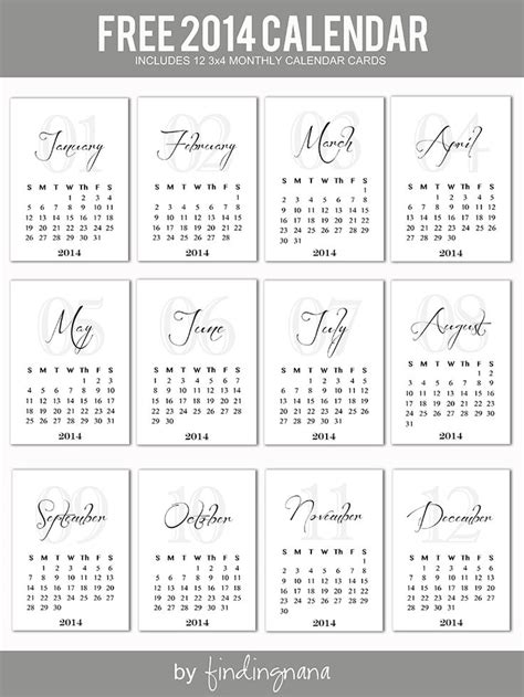 3 Month Calendar Template 2014 by 655 Best Free Journal Printables Images On