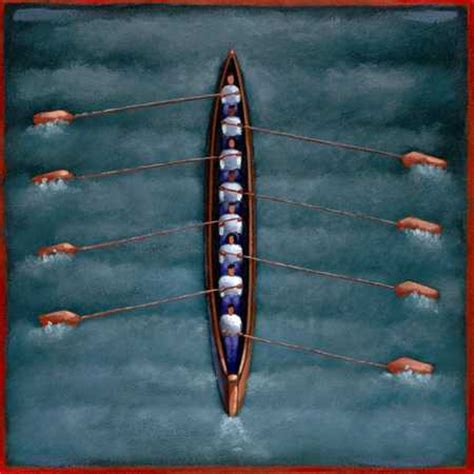 Row Boat Team by Stock Illustration Rowing Team