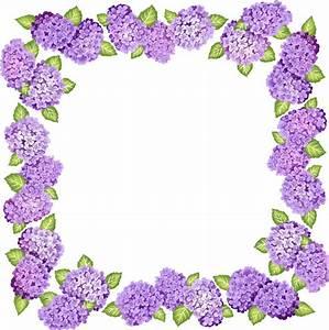 Purple Flower Border Images - ClipArt Best