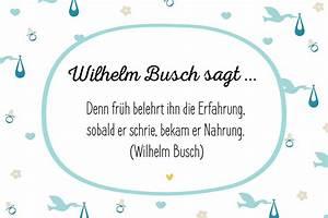 Sprüche Zur Hauseinweihung : gl ckw nsche zur geburt wilhelm busch sagt bilder ~ Lizthompson.info Haus und Dekorationen