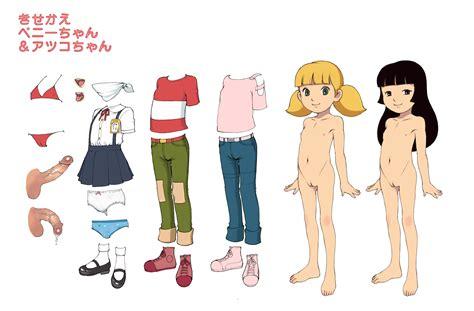 Girls S Absurdres Atsuko Inspector Gadget Bikini Black Background Black Hair Blonde Hair