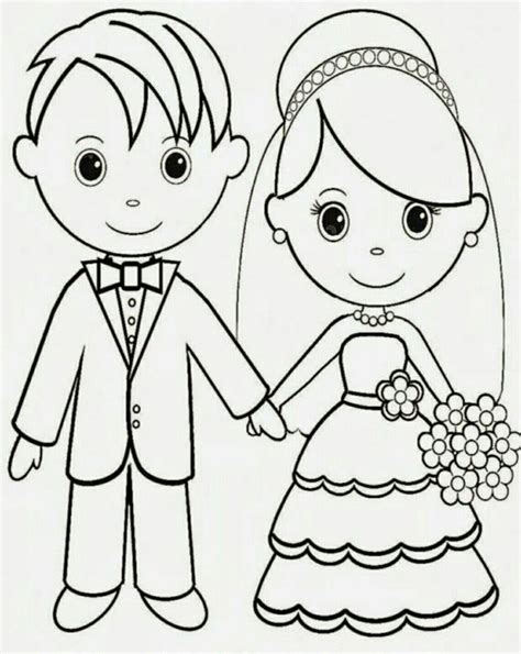 wedding coloring pages images  pinterest