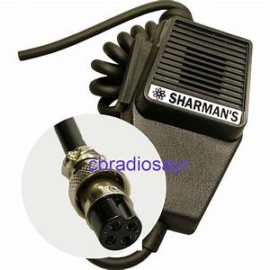 Replacement Cb Microphone 4 Pin Standard Wiring  Amstrad